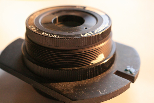 [Picture: tamron photocopier lens 3: side view]