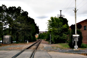 [picture: Railway crossing]