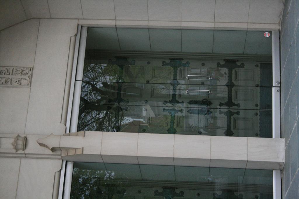 [Picture: Glass church door 2]