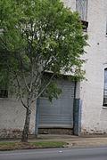 [Picture: Old metal garage door]