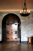 [picture: The conference hotel, an internal doorway]
