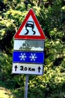 [picture: Snow ahead!  Straight above you!]
