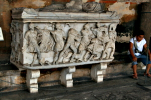 [picture: Second century A.D. Stone coffin 2]