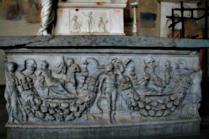 [picture: 1800-year-old carved stone sarcophagus 2]
