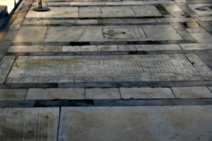 [picture: Floor paved with gravestones]
