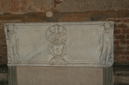 [Picture: sarcophagus from 3rd century C.E. 1: front view]