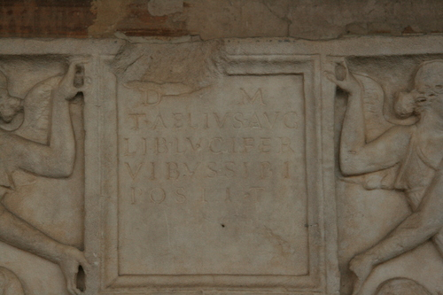 [Picture: Second century sarcophagus 3: the inscription]