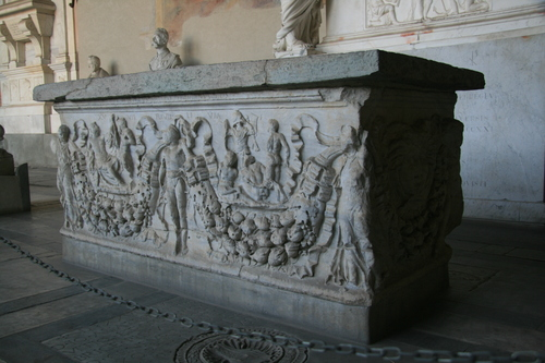 [Picture: 1800-year-old carved stone sarcophagus 1]