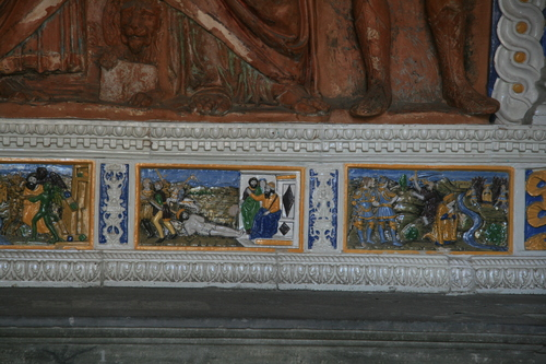 [Picture: Rococo Tomb 3: detail of scenes]
