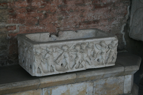 [Picture: Stone coffin for the burial of a child]