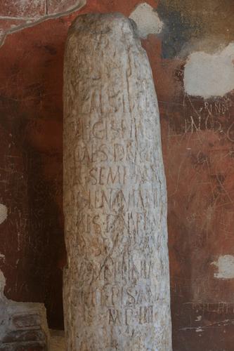 [Picture: Inscribed pillar]