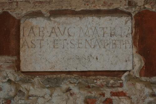 [Picture: Julia Augusta Domna inscription fragment]