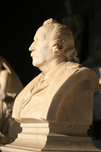 [Picture: Bust of moustached man]
