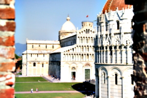 [picture: Baptistry and Cathedral through Embrasure 2]