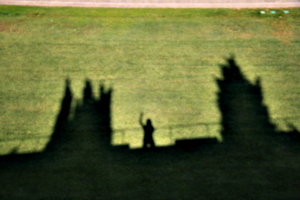 [picture: Waving from the city wall 2]