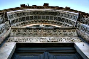 [picture: Carved Baptistry Entrance side-panels]