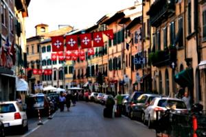 [picture: Pisa street scene]