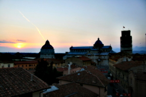 [picture: View from the Hotel Balcony 2: Pisa Sunset]