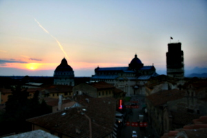 [picture: View from the Hotel Balcony 3: Pisa Sunset]