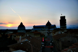 [picture: View from the Hotel Balcony 4: Pisa Sunset]