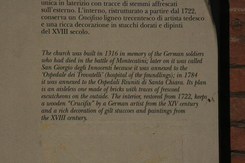[Picture: Church of San Giorgio dei Tedeschi 3: Caption]