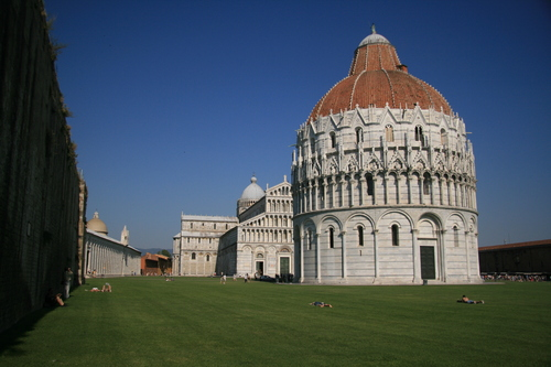 [Picture: Leaning Baptistry of Pisa]