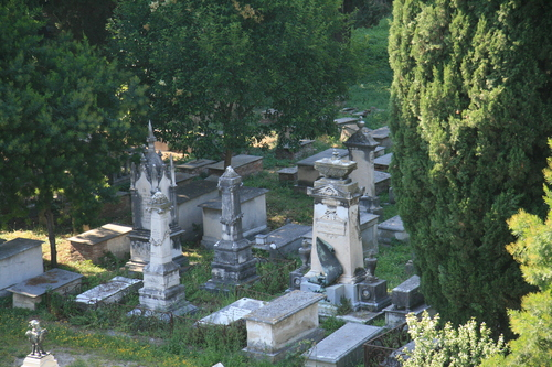 [Picture: Jewish Cemetary 12: monuments]