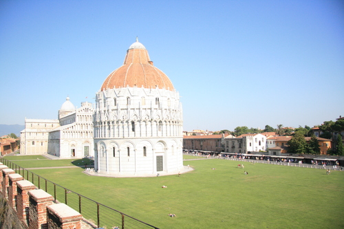 [Picture: Baptistry and Cathedral and Wall]