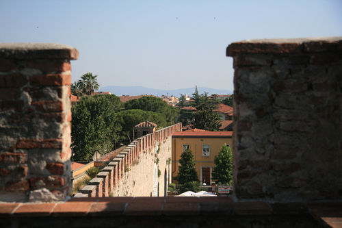 [Picture: Pisa outside the city walls]