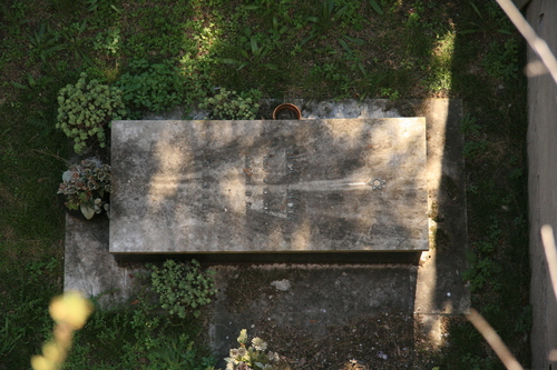 [Picture: Jewish Cemetary 29: Looking down]