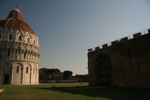 [Picture: Baptistry and Wall]