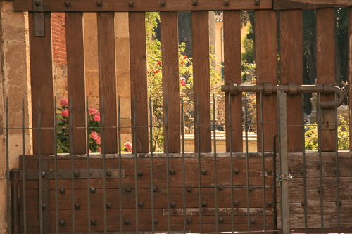 [Picture: Jewish Cemetary 39: through the gate 2]