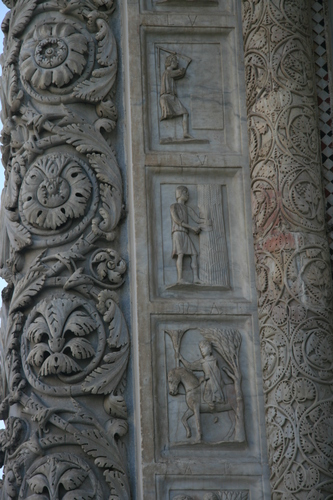 [Picture: Carved Baptistry Entrance side-panels 3]
