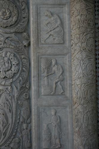 [Picture: Carved Baptistry Entrance side-panels 5]