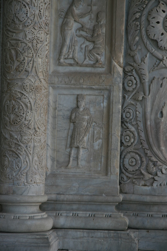 [Picture: Carved Baptistry Entrance side-panels]