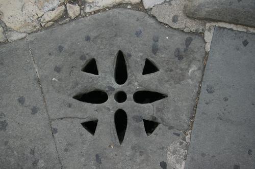 [Picture: Stone drain]