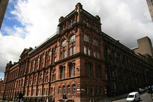 [Picture: Fish-eye building]