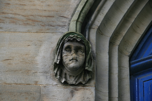 [Picture: Carved stone head 2]