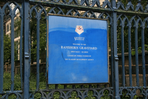 [Picture: Ramshorn Graveyard Sign]