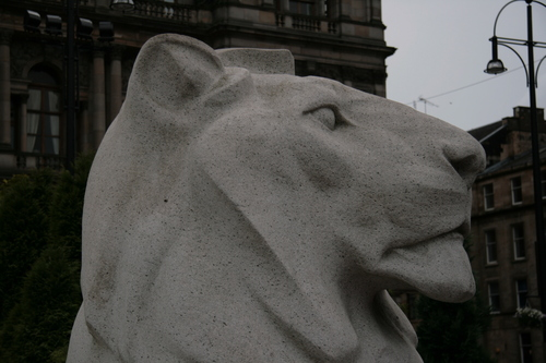 [Picture: George Square 3: Stone lion 1]