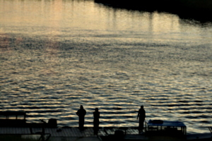 [picture: Youths on the dock 2]