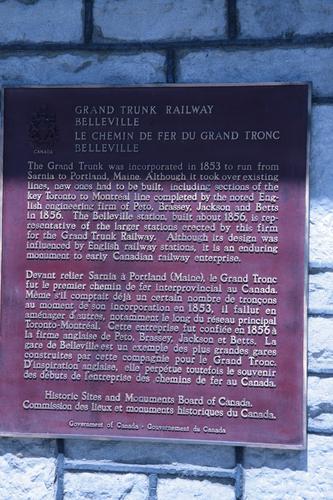 [Picture: Belleville Station Plaque]