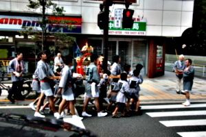 [picture: Carrying the Mikoshi 1]