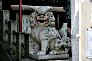[picture: Guardian temple lion]