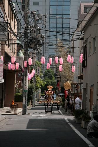 [Picture: Lanterns and Mikoshi 1]