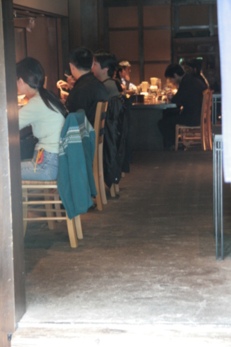 [Picture: Japanese restaurant 2: looking in]