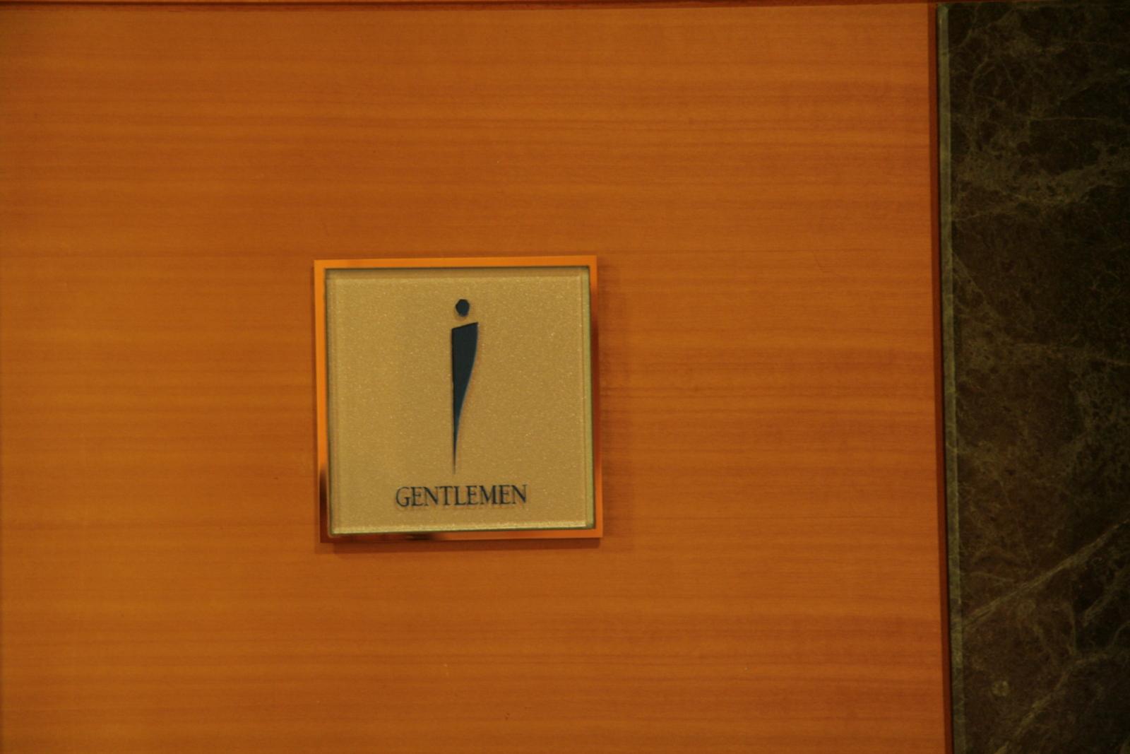 [Picture: Gentlemen sign]