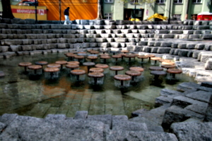 [picture: Fountain in courtyard]