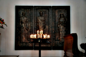 [picture: Bronze Triptych with Candles 1]