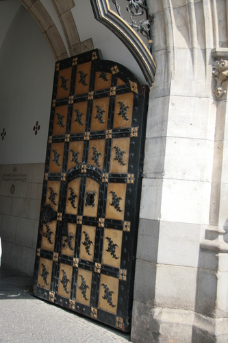 [Picture: The new Town Hall 5: Ornate door]
